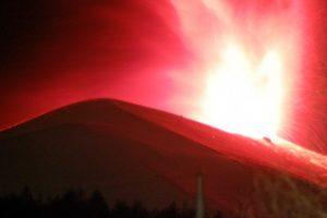 平成21年2月8日の爆発時の閃光