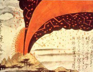 天明3年の大噴火を描いた絵