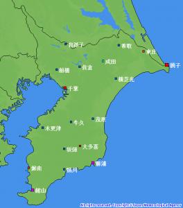 千葉県の「気象観測施設配置図」 (抜粋)