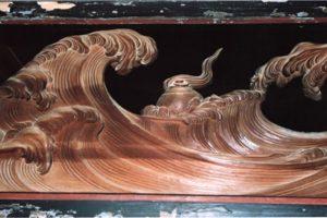 波の伊八の傑作「波に宝珠」