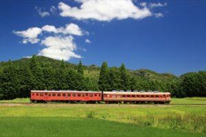 のどかな田園を走るいすみ鉄道線