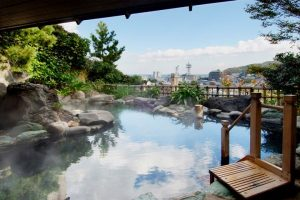 伊東温泉にある露天風呂