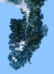 画像1_伊豆半島のランドサット衛星写真