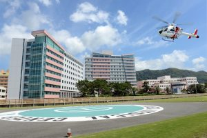 鴨川市内の亀田総合病院