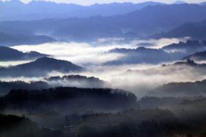 九十九谷展望公園の雲海模様