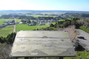 天守閣展望台から見える田園風景