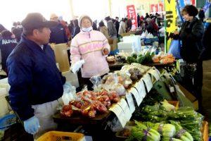 新鮮取りたての地産野菜も出品