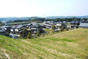 大多喜町の町営分譲地の景観