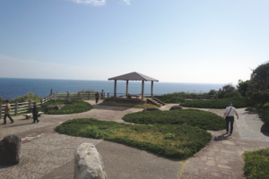 勝浦城址公園から望む太平洋