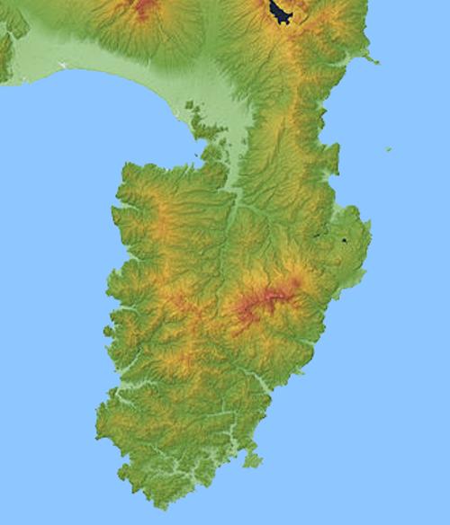 画像2_伊豆半島の地形図