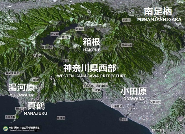 箱根ジオパークの地勢