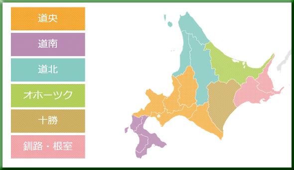 図1:北海道生活圏別エリア区分マップ