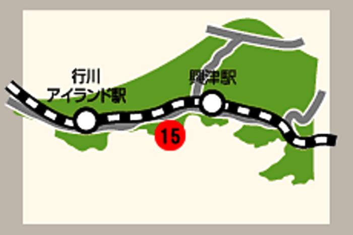 繋船柱碑の所在地マップ