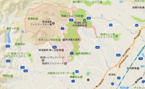那須町湯本地区のスポットマップ