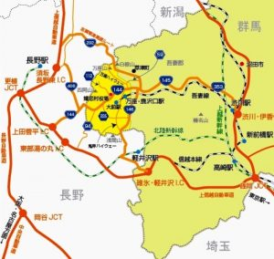 嬬恋村アクセスマップ